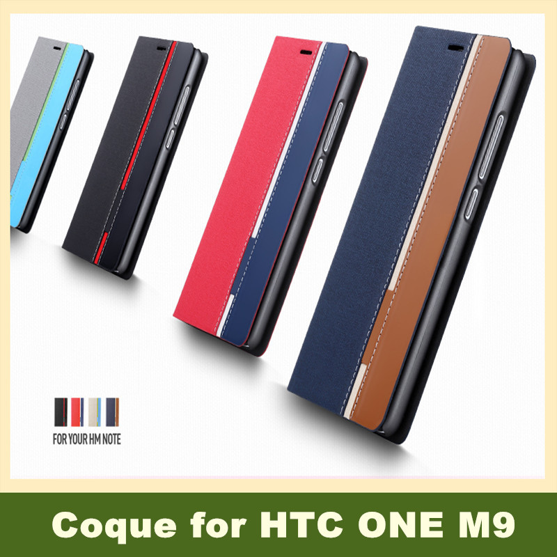 100pcs New Innovative Products Custom PU Leather Card Holder Book Stand Wallet Mobile Phone Bags Cases for HTC One M9(China (Mainland))