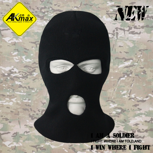 AKMAX military tactical 3 Hole Knitted Face Mask Balaclava Hat Ski Army Stocking Winter Cap Beanie Hood winter hat's men - Fashionoutdoor Industry Co.,Ltd store