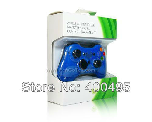 Free shipping for xbox360 wireless controller gamepad joystick (Black blue Red White)