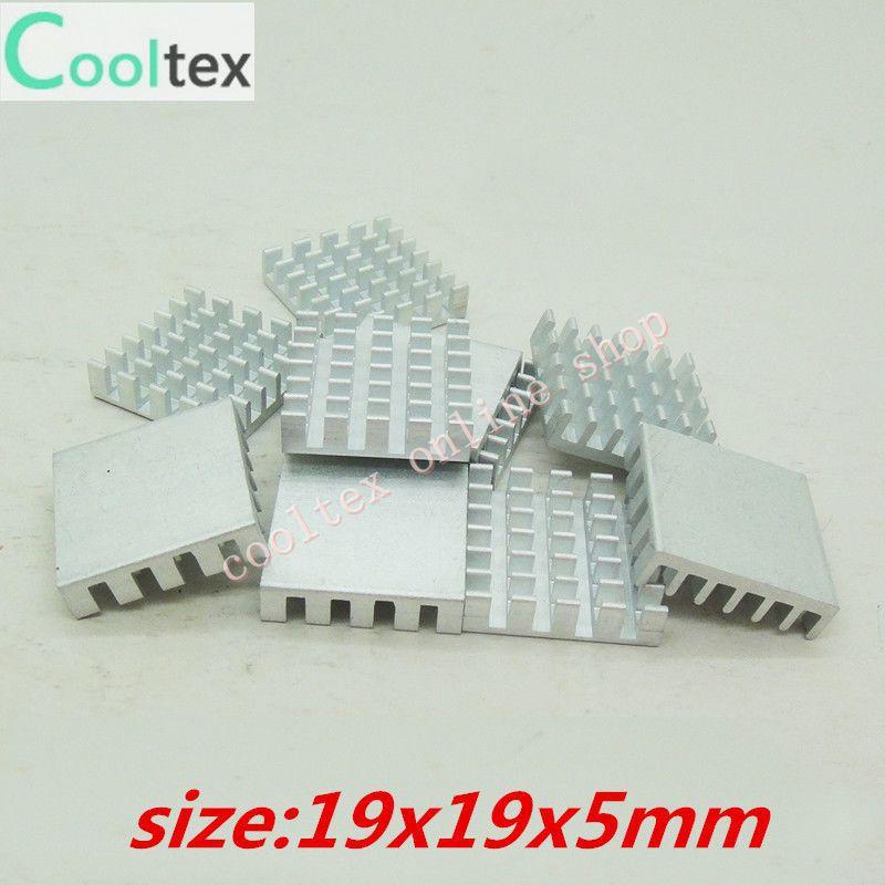 Free Shipping 1000pcs  Extruded Aluminum heatsink 19x19x5mm, Chip/CPU /GPU/ VGA /LED /IC COOLER