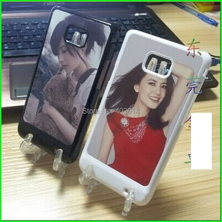 3 color DIY Sublimation Heat Press PC cover case Metal Aluminium plates for Samsung Galaxy S2 i9100 9108 20ps/lot