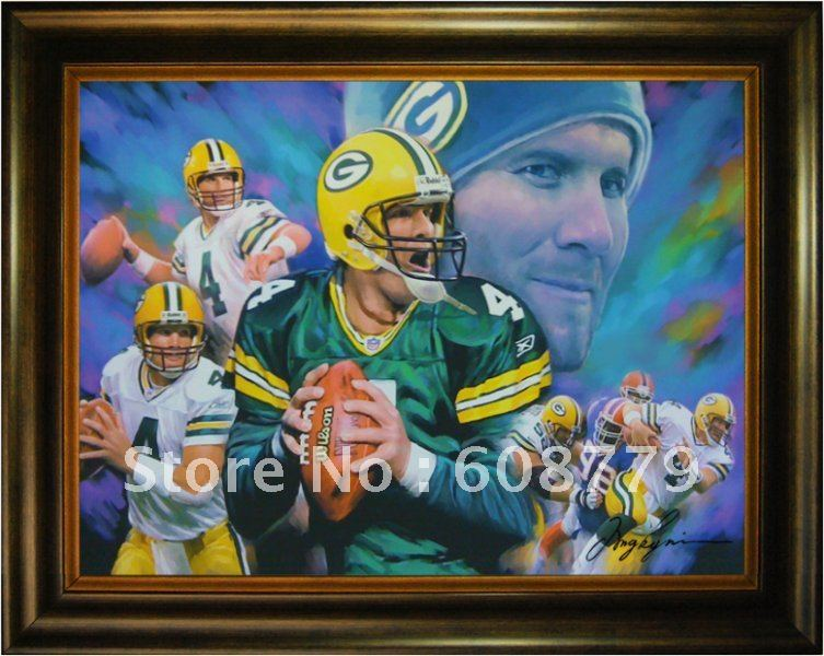 Green Bay Packers Favre Oil Painting(China (Mainland))
