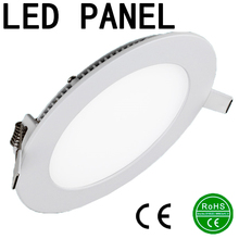 Ultra Thin Led Panel Downlight 3w 4w 6w 9w 12w 15w 18w Round LED Ceiling Recessed Light AC85-265V LED Panel Light SMD2835(China (Mainland))