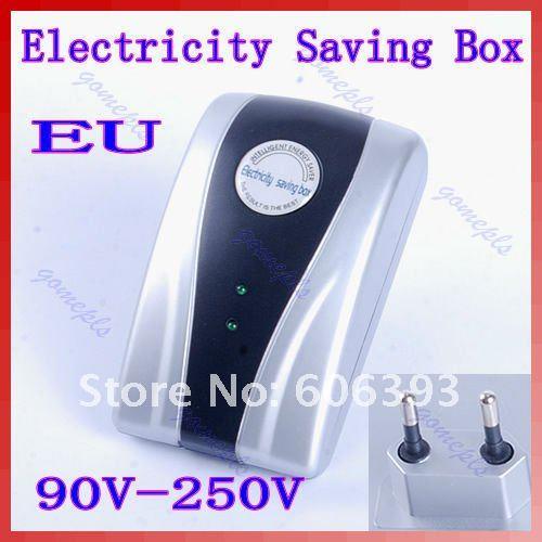 P80 Free shipping New Type Power Electricity Saving Box Energy Saver EU Plug 90V-250V(China (Mainland))