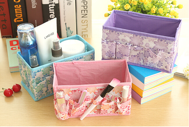 free shipping Cosmetics private storage box cosmetic box jewelry box small objects pouch #5099(China (Mainland))