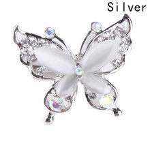 Kristal Berlian Imitasi Kupu-kupu Bros Broche Pin Jilbab Dan Bros Wanita Antik Fashion Wanita Hewan Pins Broches Perhiasan(China)