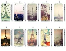 Mobile Phone Cases Wholesale 10pcs/lot Eiffel Tower Protective White Hard Case For Ipod Touch 4 4th Free Shipping