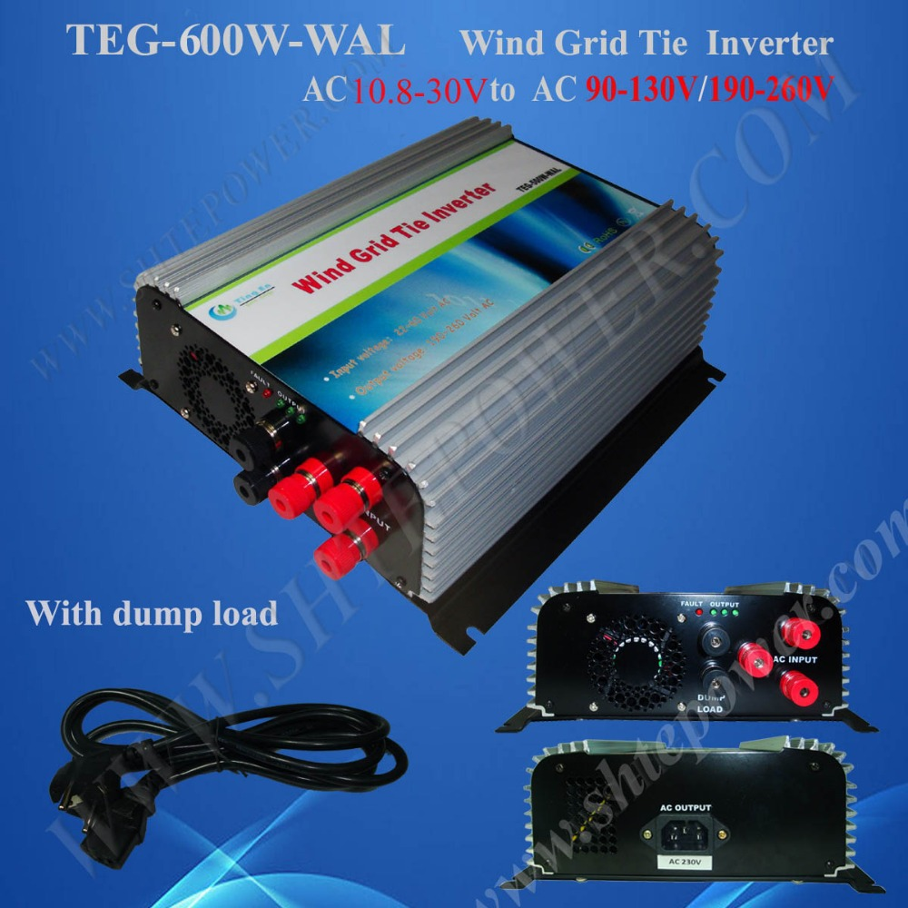 600 watts tie grid wind inverter 12v 24v ac to 110v/220v ac inverter grid connected wind turbine inverter(China (Mainland))