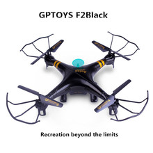 Quadcopter Drone GPTOYS F2 Black Aviax 6-Axis 2.4GHz Quadcopter with No Camera Remote Contral Drone and Headless Mode