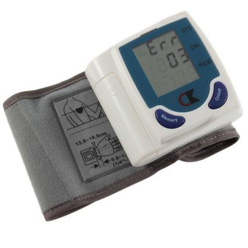 selling 20PCS/Lot Portable Digital Wrist Blood Pressure Monitor & Heart Meter with Large LCD Display selling(China (Mainland))