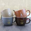 Petty coffee cup creative fashion simple retro glaze ceramic mug with lid belt spoon mug cup