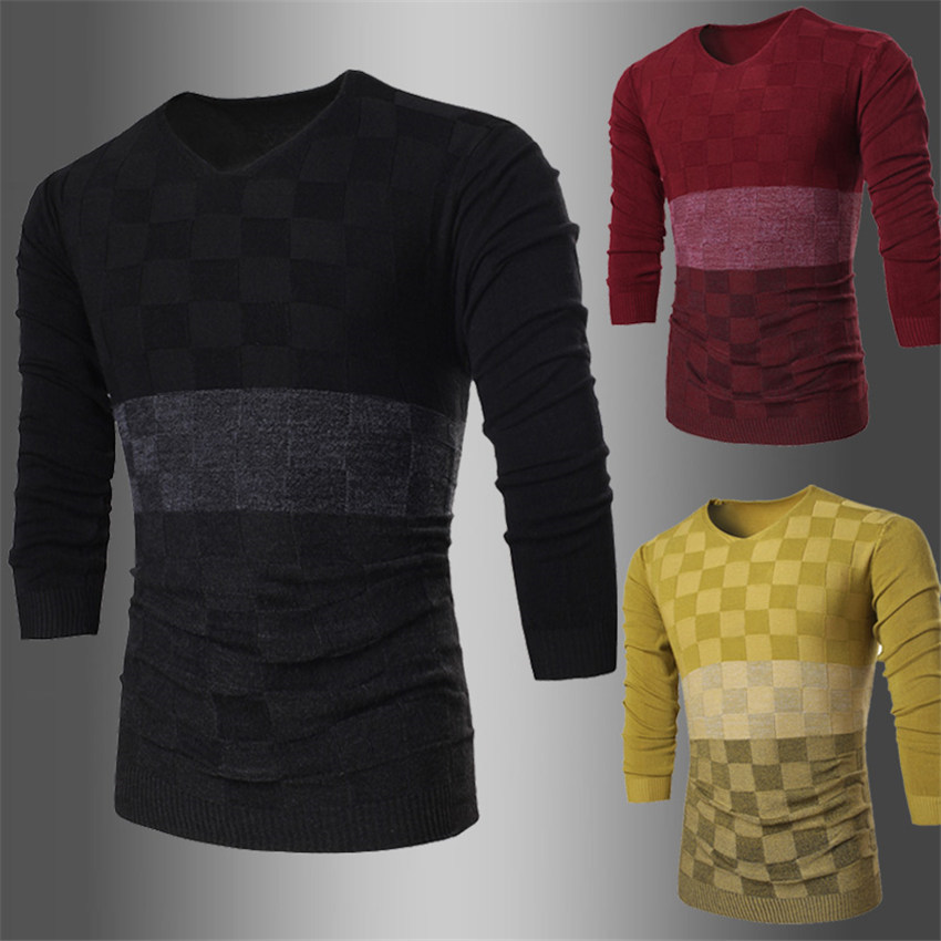Мужской пуловер Sweater 2015 o Slim Fit Sueter Homme Sweater Men