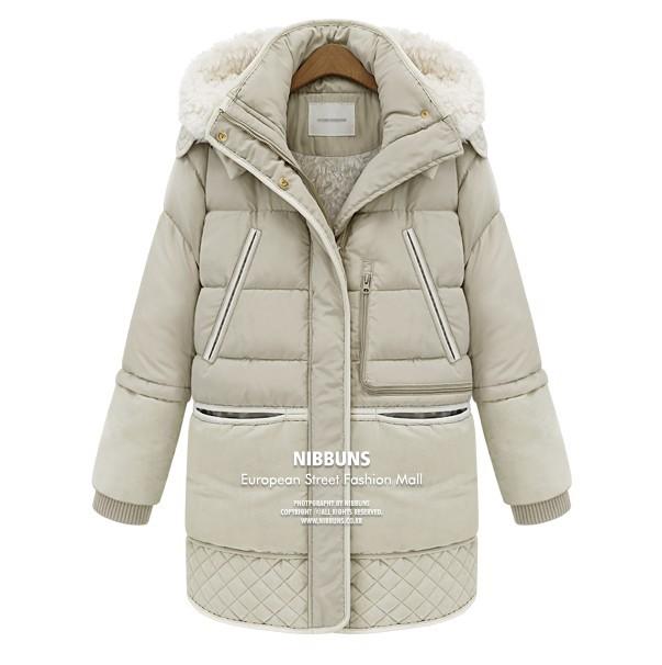 EBay aliexpress 2014 new winter jacket, long hair down clothing wholesale military lamb(China (Mainland))