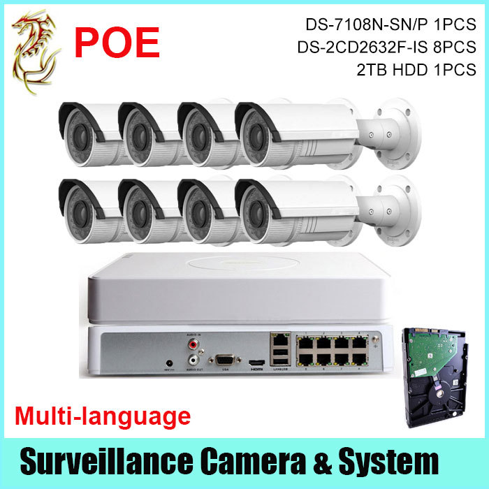 NVR 1080P 8CH POE Hikvision DS-7108N-SN/P CCTV IP Security Camera NVR <br><br>Aliexpress