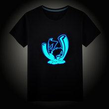 Gioco PVZ Girasole Peashoter Wallnut Luminoso Bambini T-Shirt Delle Ragazze del Ragazzo Fluorescente Maniche Corte della MAGLIETTA Del Bambino Del Cotone Magliette e camicette Ves(China)