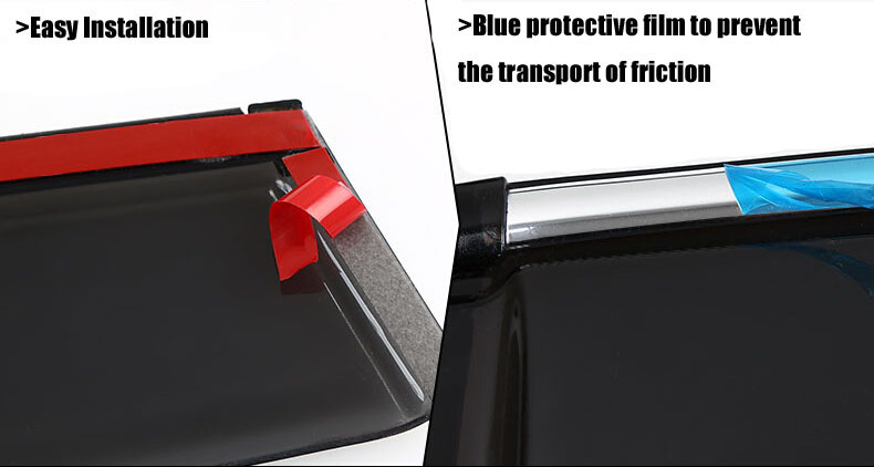 Auto rain shield window visor car window deflector sun visor covers stickers Fit For TOYOTA PRIUS 2012 PC 4pcs/set