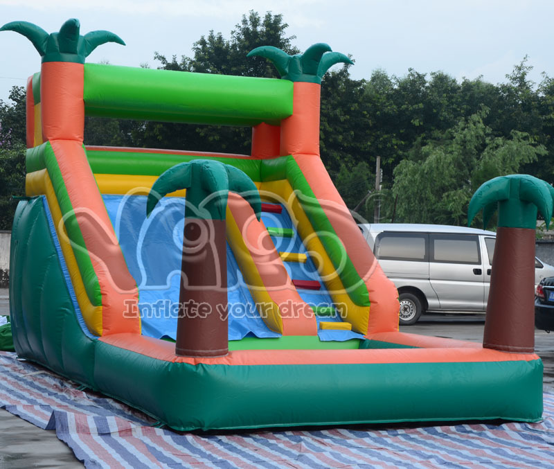 Backyard inflatable water slide with pool for summer<br><br>Aliexpress