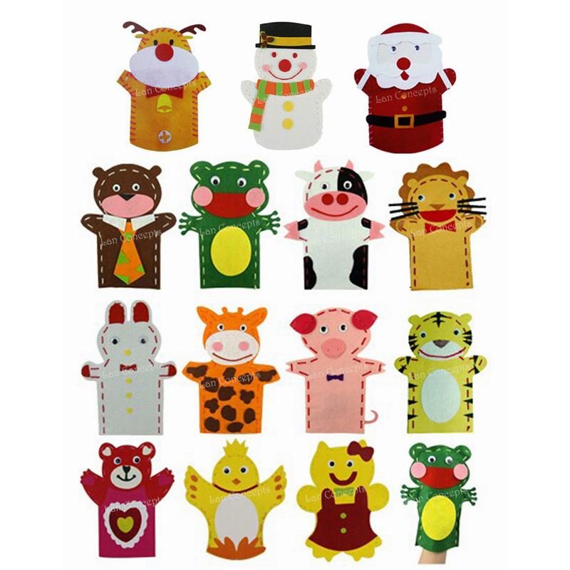 Online buy wholesale felt hand puppet from china felt hand for Craft kits for kids in bulk