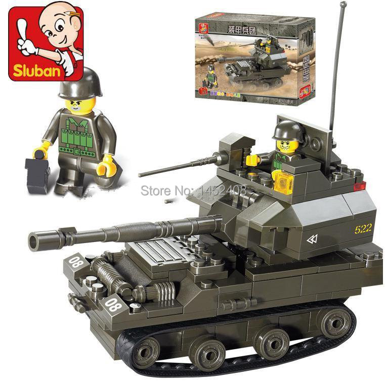 Army Toys For Boys : Sluban pcs t tank diy playmobil educational blocks