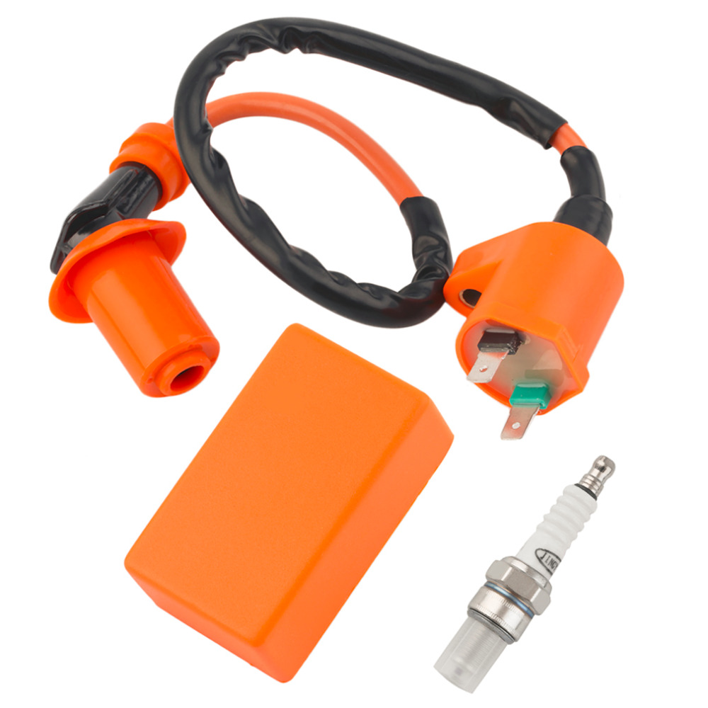 Hot Sale Motorcycle Racing Performance CDI+ Ignition Coil + Spark Plug Fit Gy6 50cc 125cc 150cc(China (Mainland))