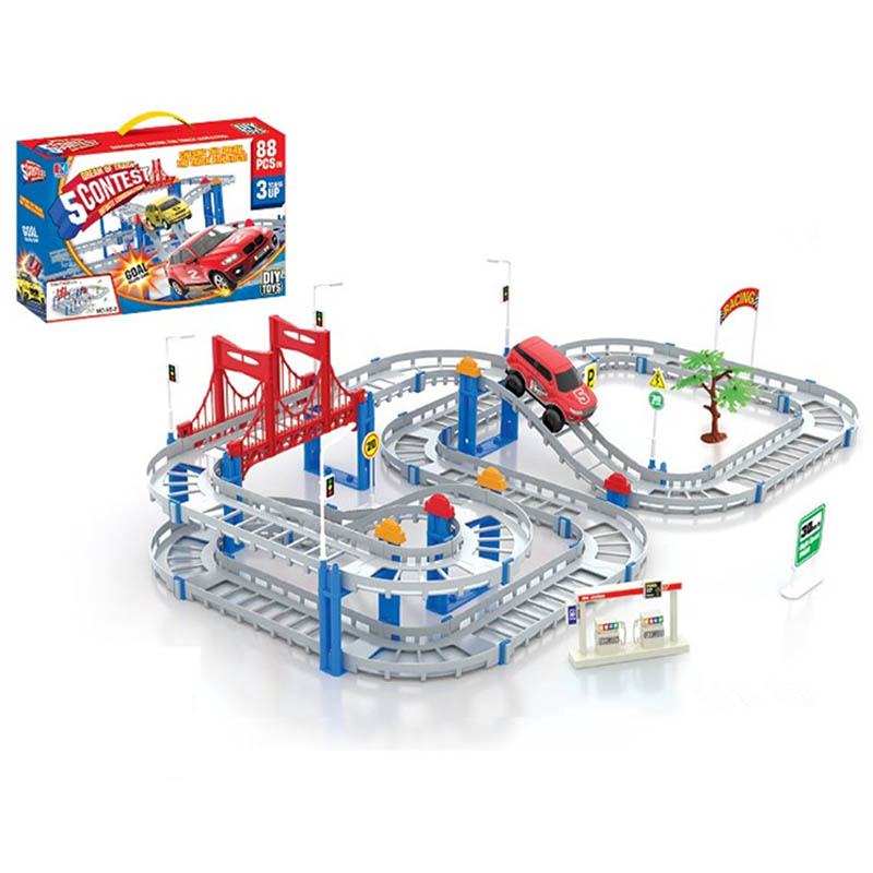 Hot sell Children Educational Toys Rail car toy Multilayer railcar kids toys Thomas electric train track Toys Gift For Children(China (Mainland))