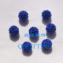 10PCS DIY תכשיטים אבזר אוסטריה ריינסטון עגול חרוזים 10MM קריסטל כדורי צמיד ביצוע ממצאי לערבב צבע(China)