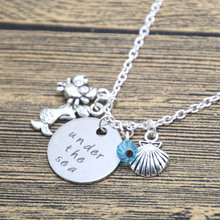 Buy 12pcs/lot Little Mermaid Inspired Necklace. Sea Silver tone crystal women girls for $16.99 in AliExpress store