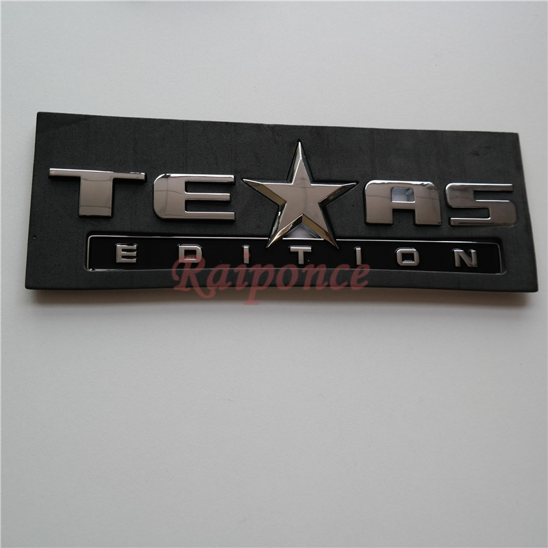 TEXAS EDITION Car Rear Trunk Emblem Badge For Chevrolet Silverado GMC Auto Accessories Decoration Sticker Letter Nameplate(China (Mainland))