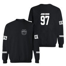 Kpop bts sweatshirt men and women bangtan boys album hoodies letter printed o neck sweatshirts plus size 4XL(China (Mainland))