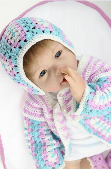 2015 New 55cm baby silicone reborn baby dolls toys, birthday gift for kid child, girl brinquedos play house doll reborn toy
