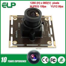 38mmX38mm USB camera module, high definition cmos camera module ELP store video camera with 2.1mm wide angle lens