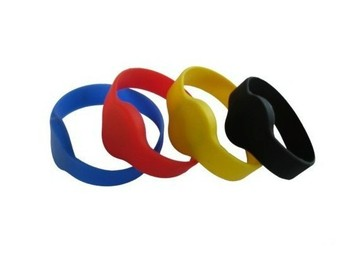 10pcs A lot of  125KHz   TK4100 economy silicone wristband