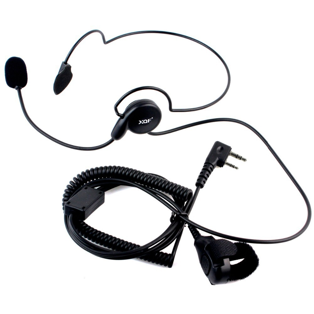 2016 Advanced Unilateral headphone Mic Finger PTT Neckband Earpiece Cycling Field Tactical Headset for Kenwood BAOFENG Radio(China (Mainland))