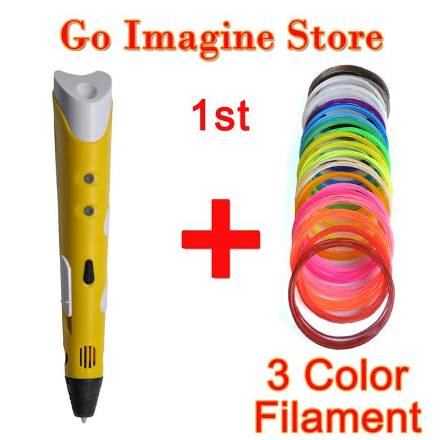 Чертеж 3d принтер ручка рождественские подарки 3d принтер пера с 1.75 мм ABS/PLA для детей подарок на день рождения искусство Полезные подарки