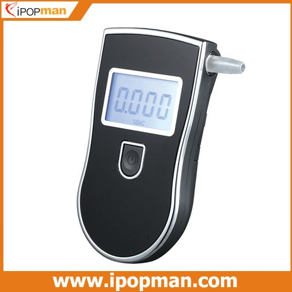 3 Digits Display Patent Police Alcohol Tester Breathalyzer Alcohol Detector with blue backlight LCD & 5 mouthpiece, CE FCC RoHS