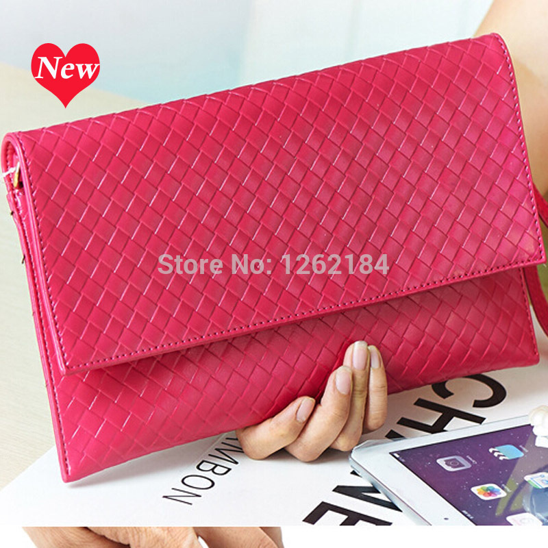 European and American leather envelope clutch bag ladies summer new women bags woven pattern slim shoulder diagonal package<br><br>Aliexpress