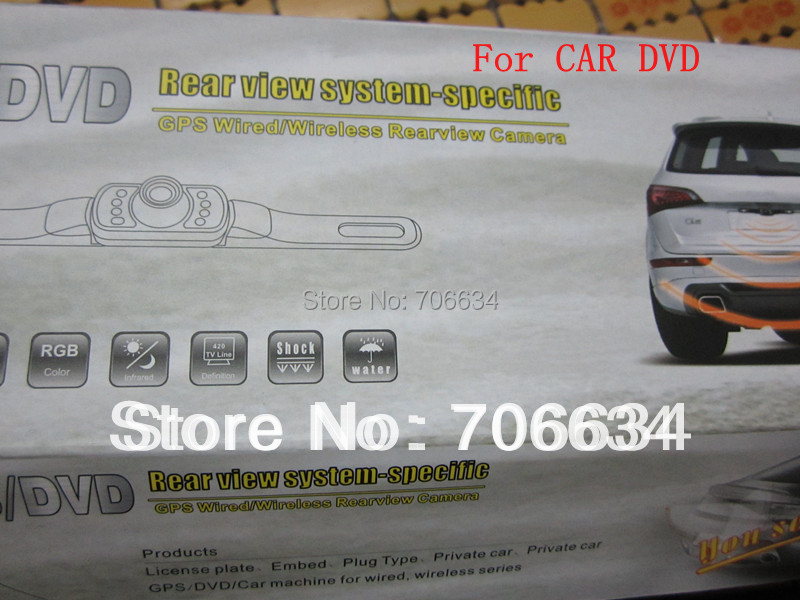 Free shipping Wireless Car Rear Backup Camera Reverse Wide View Vision for car DVD(China (Mainland))