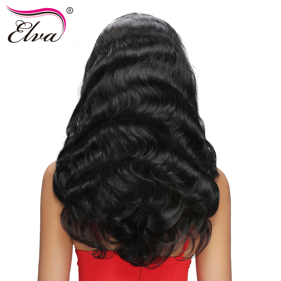 360 Lace Frontal Wigs Pre Plucked With Baby Hair Body Wave 180% Density Elva Hair Brazilian Remy Human Hair Wigs For Black Women