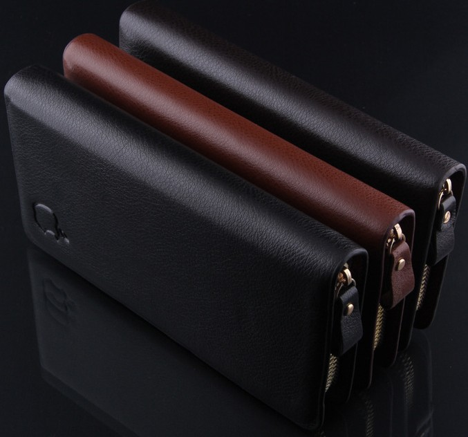 M02 new 2015 brand artificial leather men's wallet clutch carteira money bags for men black coffee purse(China (Mainland))