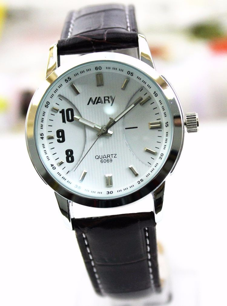 Nary Специальный Цифровой Мужчины Женщины Кварцевые Высококачественного Искусственного Кожаный Ремешок Часы Япония Движение Импорт Водонепроницаемый Пару Часов