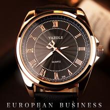 2016 YAZOLE montres lumineuses montres hommes Top marque de luxe célèbre chiffre romain homme horloge bracelet à Quartz mode Quartz - montre(China (Mainland))