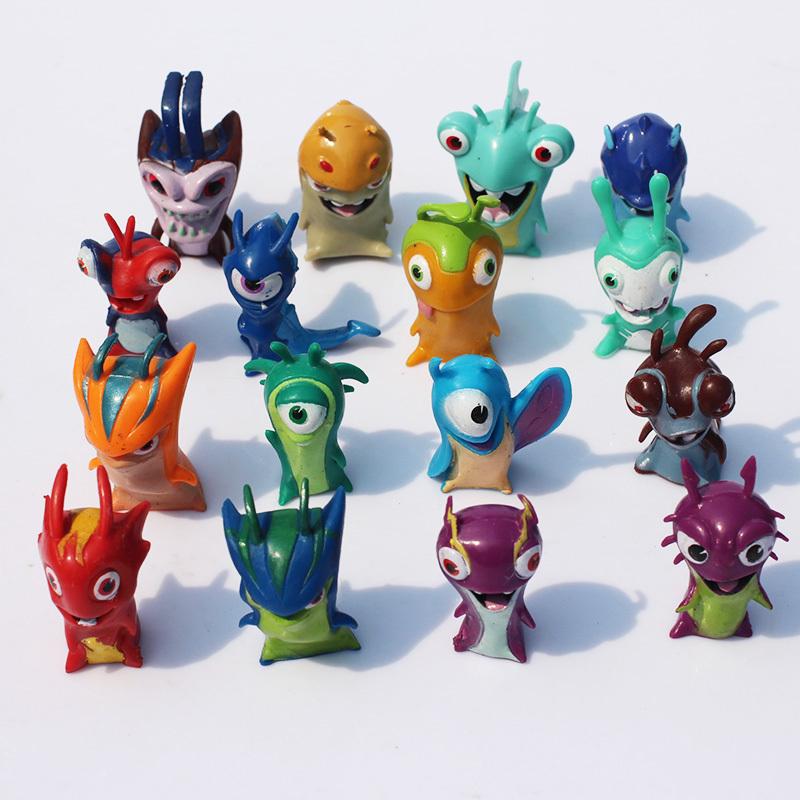 Slugterra Figures PVC Action Figures Dolls 16pcs/lot Children Toys Christmas Gifts 4CM Free Shipping