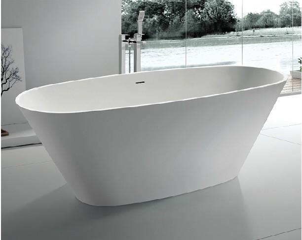 1 7m freestanding bathtub artificial stone bathtub matte for Freestanding stone resin bathtubs