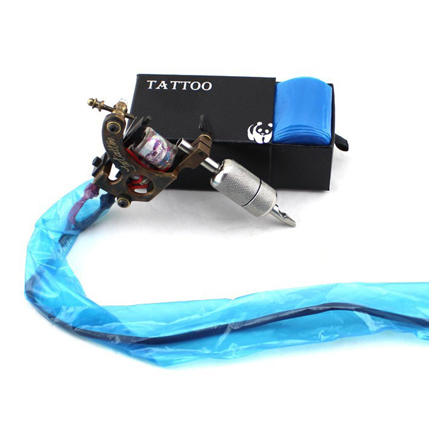 buy 100pcs plastic blue tattoo clip cord sleeves covers bags supply 2015 new. Black Bedroom Furniture Sets. Home Design Ideas
