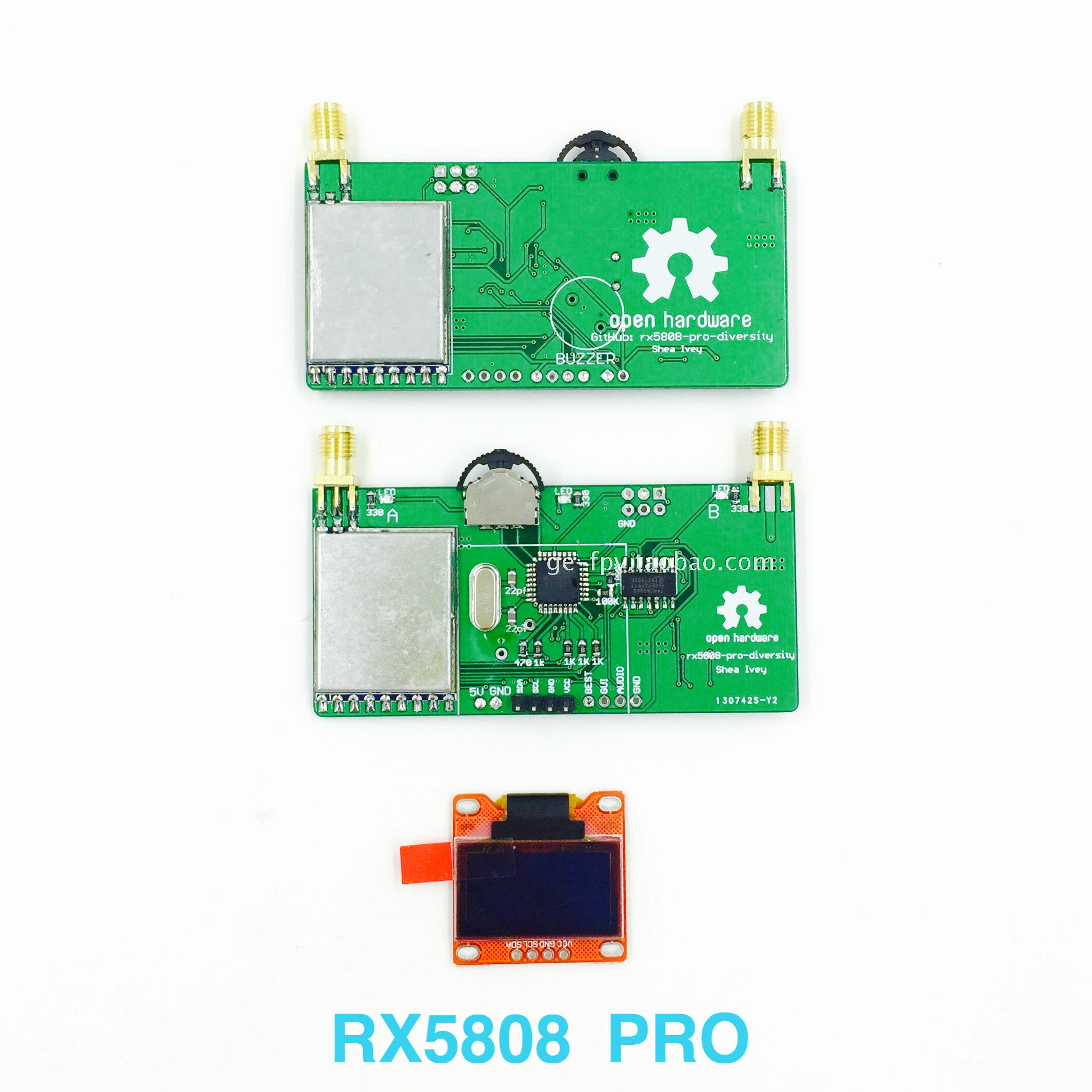 Free Shipping Figure Rx5808 5.8G 40ch OLED FPV Received Double Screen Video Glasses Modified Aerial Display<br><br>Aliexpress