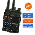 2x Baofeng UV 5R 8W Radio UV 8HX High Power VHF UHF 136 174 400 520MHz