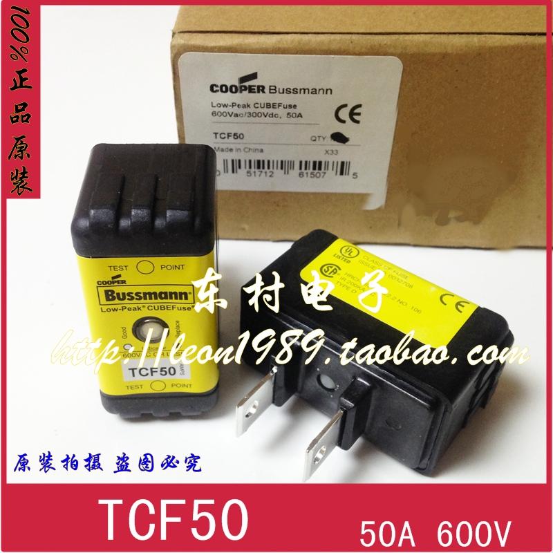 Фотография [SA]American Eaton Bussmann Fuses TCF50 50A 600V 300V slow- delay fuse