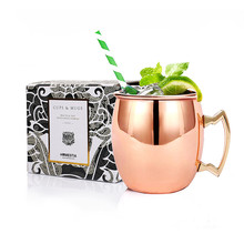 1pc HOMESTIA 550ml Stainless Steel Bronze Copper Plated Mugs Moscow Mule Mug Beer Mug Milk Coffee Cup Drinkware For Bar/Home(China (Mainland))