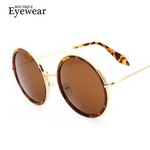 BOUTIQUE gold frame retro round sunglasses women designer brand name sunglasses fashion sun glasses ladies NEW(China (Mainland))