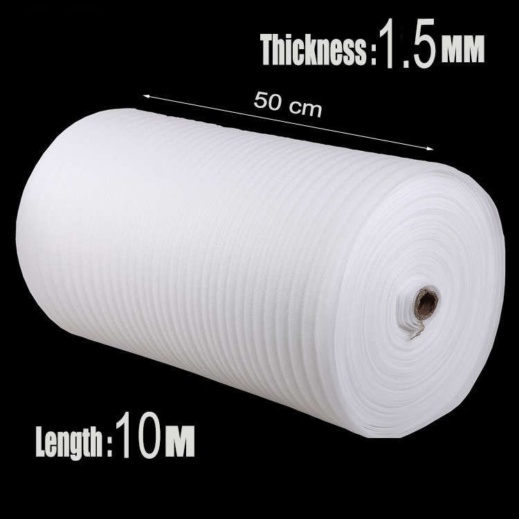 0.5*10m 1Pcs 1.5mm EPE Foam Roll Packing Material Cushion Foam Sheet Packaging War Inflatable Air Cushion Imballaggio Protector(China (Mainland))